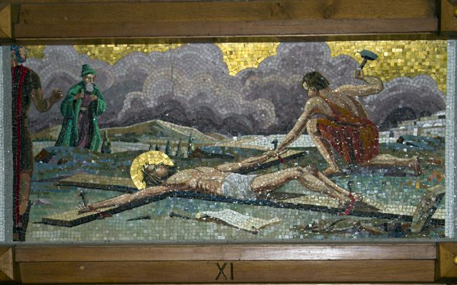 Picture of Eleventh Station: Jesus is Nailed to the Cross