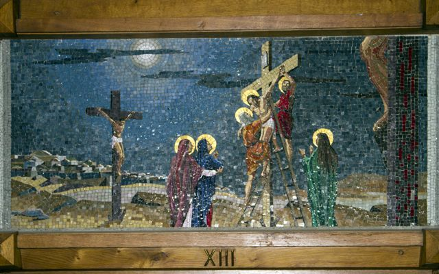 Picture of Thirteenth Station: Jesus is Taken Down from the Cross