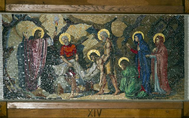 Picture of Fourteenth Station: Jesus is Laid in the Tomb