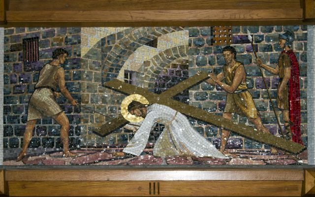 Picture of Third Station: Jesus Falls the First Time