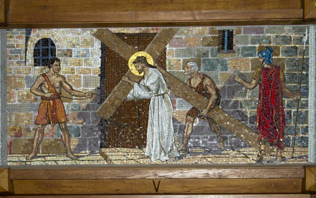 Picture of Fifth Station: Simon Helps Jesus Carry His Cross