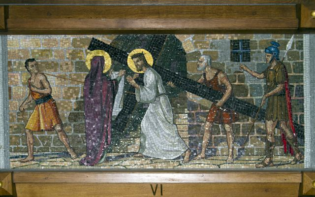 Picture of Sixth Station: Veronica Wipes Jesus' Face