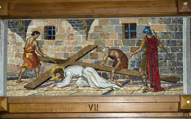 Picture of Seventh Station: Jesus Falls the Second Time