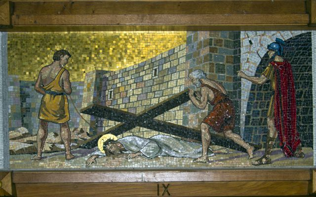 Picture of Ninth Station: Jesus Falls the Third Time