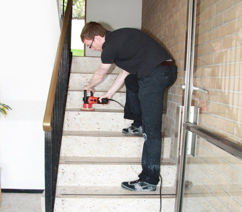 staircase cleaning