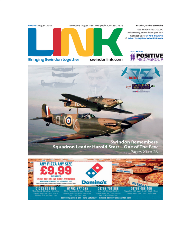 Advertising in the Link magazine, Swindon and Wiltshire