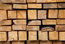 Stacks of lengths of timber