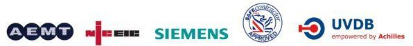 AEMT, NICEIC,  Siemens, UVDB logo