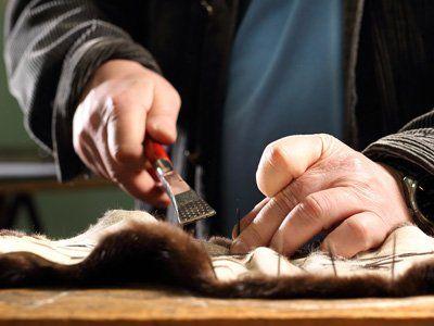 lavorazione pelliccia