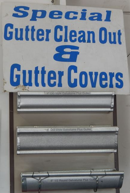 Display of gutter covers