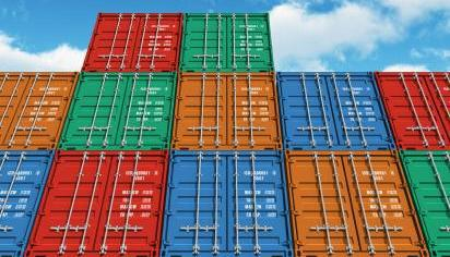 Cargo freight in shipping containers