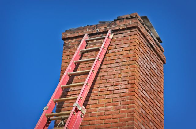brick chimney with latter