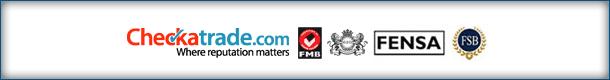 Checkatrade, FMB, FENSA and FSB logos