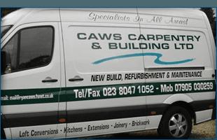 CAWS Carpentry & Building Ltd van