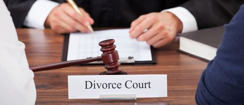A divorce attorney working with clients in Lincoln, NE