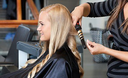 Hair styling with hot iron
