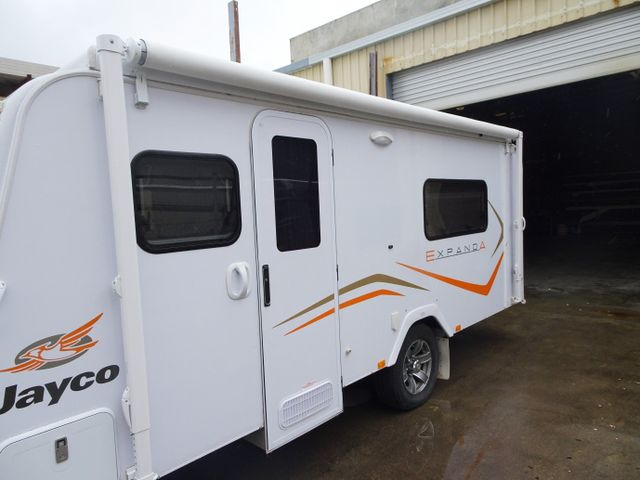 white jayco campervan