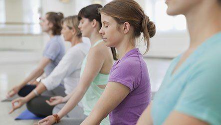 ladies meditating