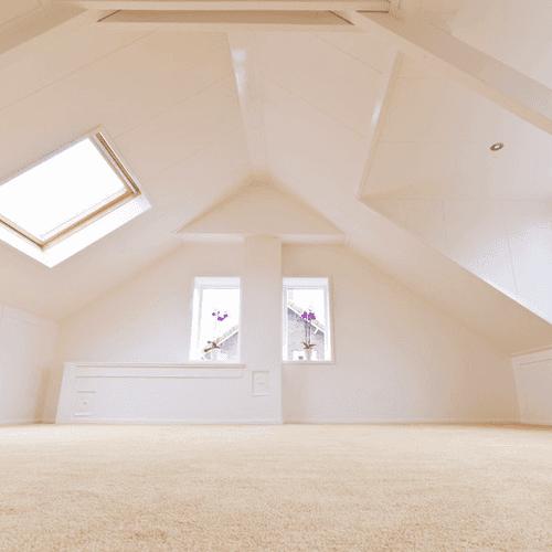 empty loft conversion room