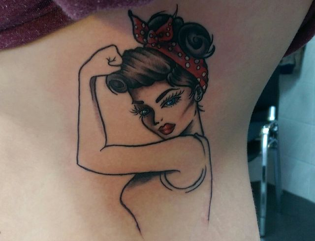 Tattoo of a girl designed at our tattoo salon in Horsham