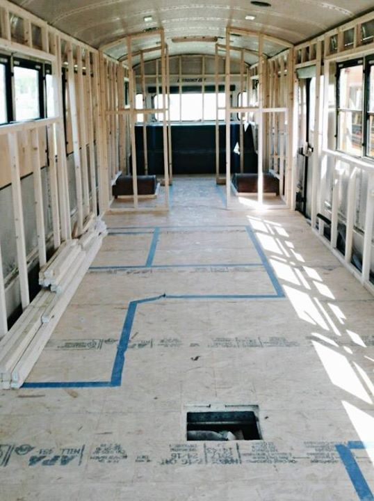 the layout of our Schoolbus Conversion