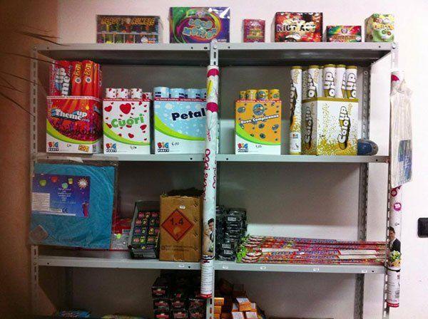 Numeri scintillanti, prodotti pirotecnici in tutta Italia a Caserta
