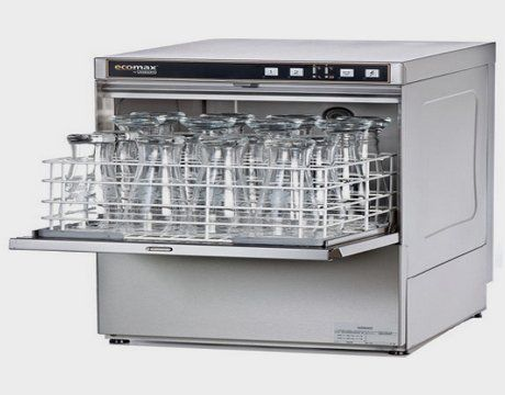 a commercial dishwasher