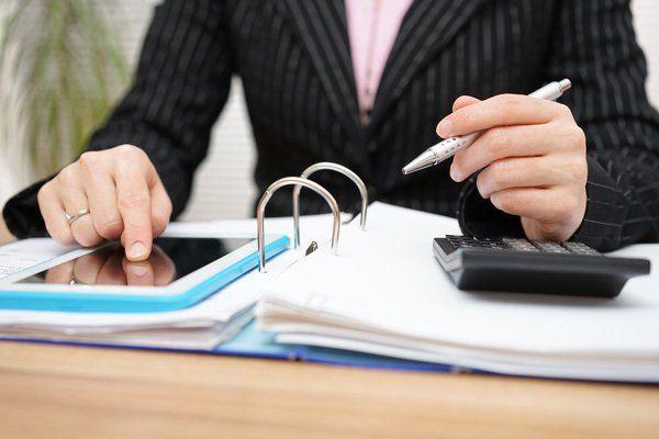 Female accountant working on accounts