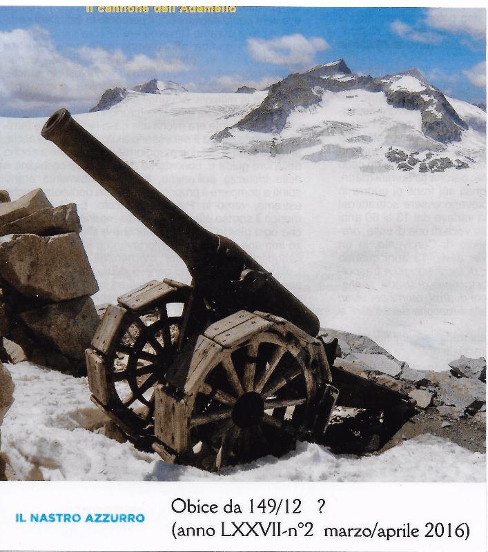 Il cannone dell' Adamello