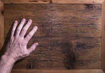 reclaimed barn wood finish