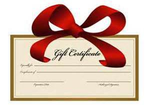 Boat service gift certificates