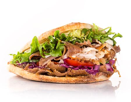 Primo piano di un Kebab
