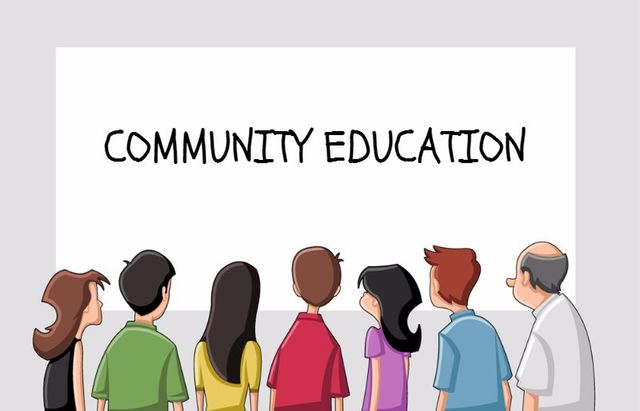 community education white board