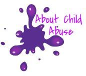 purple about child abuse paint splatter