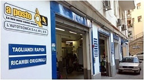 Entrata autofficina L'Autotecnica a Palermo