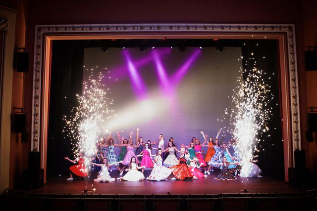 Dance performance on stage