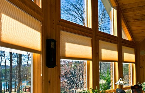 Glass windows in a residential property in Greensboro, NC