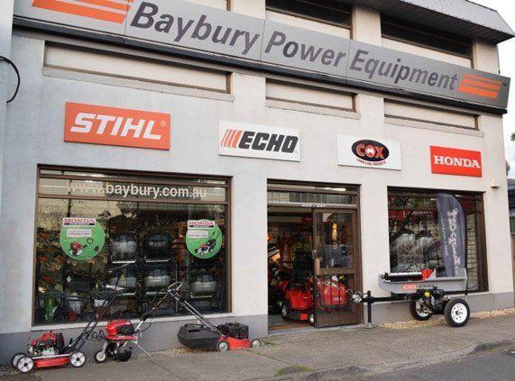baybury power equipment shop entrance