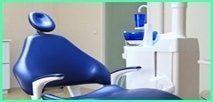 vista di moderno ed elegante studio dentistico