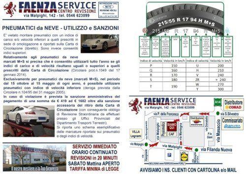 Descrizione del servizio Faenza