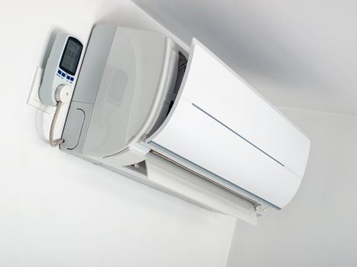 View of the air conditioner split unit