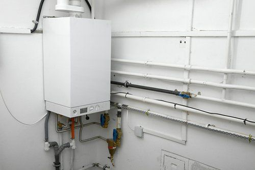 Boiler installed in the bathroom