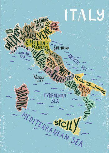 cartina d'italia