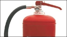 estintore rosso con tubo