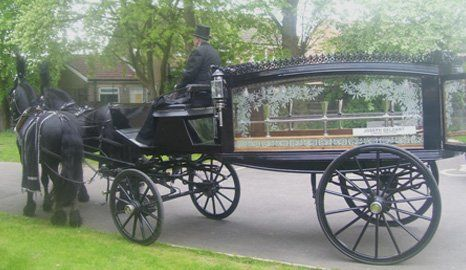 Horse-drawn hearses