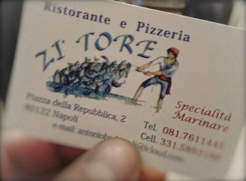 Biglietto de visita del ristorante