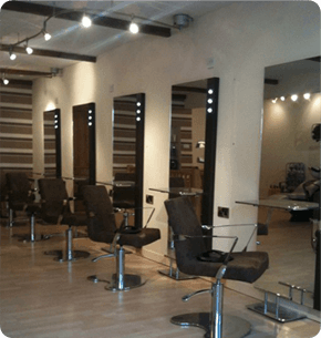 Inside of our hair salon