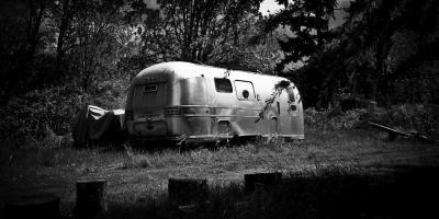 Parked caravan
