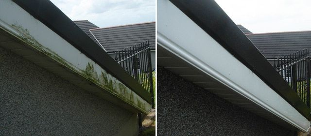 before and after clean and dirty upvc