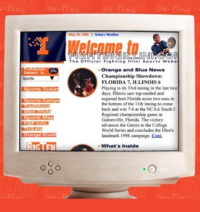 best loved aede3 59b88  At the Forefront of Digital Media  - FIGHTINGILLINI.COM Among Nation s  First Collegiate Websites